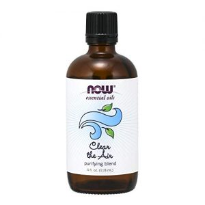 Now Essential Oils, Clear The Air Blend, Refreshing Aromatherapy Scent, Blend of Pure Essential Oils, Vegan, 4-Ounce