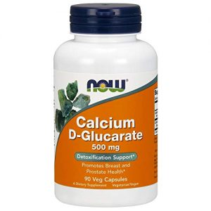 NOW Supplements, Calcium D-Glucarate 500 mg, 90 Veg Capsules
