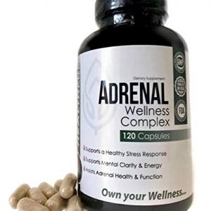 Adrenal Wellness Complex -with Natural Ingredients to Support a Healthy Stress Response, Mental Clarity, Energy and Adrenal Health & Function-.