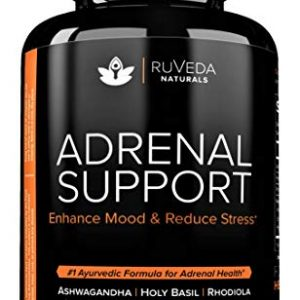 Adrenal Support — Natural Adrenal Fatigue Supplements, Cortisol Manager with Ashwagandha Extract, Rhodiola Rosea, Holy Basil, Adaptogenic Herbs for Anxiety Relief, Stress Relief & Adrenal Health