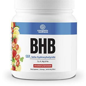 Complete Wellness BHB Beta-Hydroxybutyrate (Strawberry Lemonade) – 20 Servings – Great Supplement for Ketosis