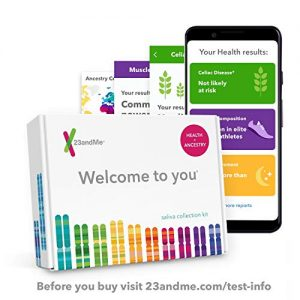 23andMe DNA Test – Health + Ancestry Personal Genetic Service – includes 125+ reports on Health, Wellness, Ancestry & More